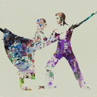 Painting: Couple Dancing Ballet