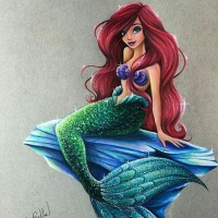 Coloured Pencils: Ariel by maxxstephen