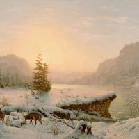 Winter Landscape By Mortimer L Smith